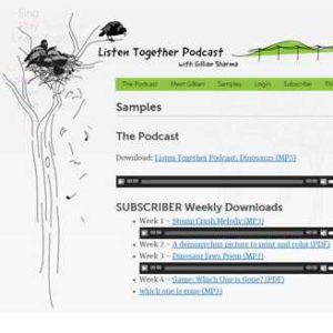 Listen Together Podcast website detail