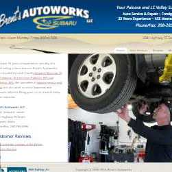 detail of Brent's Autoworks website