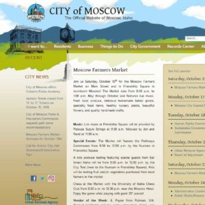 City of Moscow website detail
