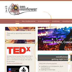Zen Sunflower website detail