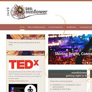 Zen Sunflower website detail