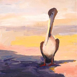 Painting entitled, Pelicans #2