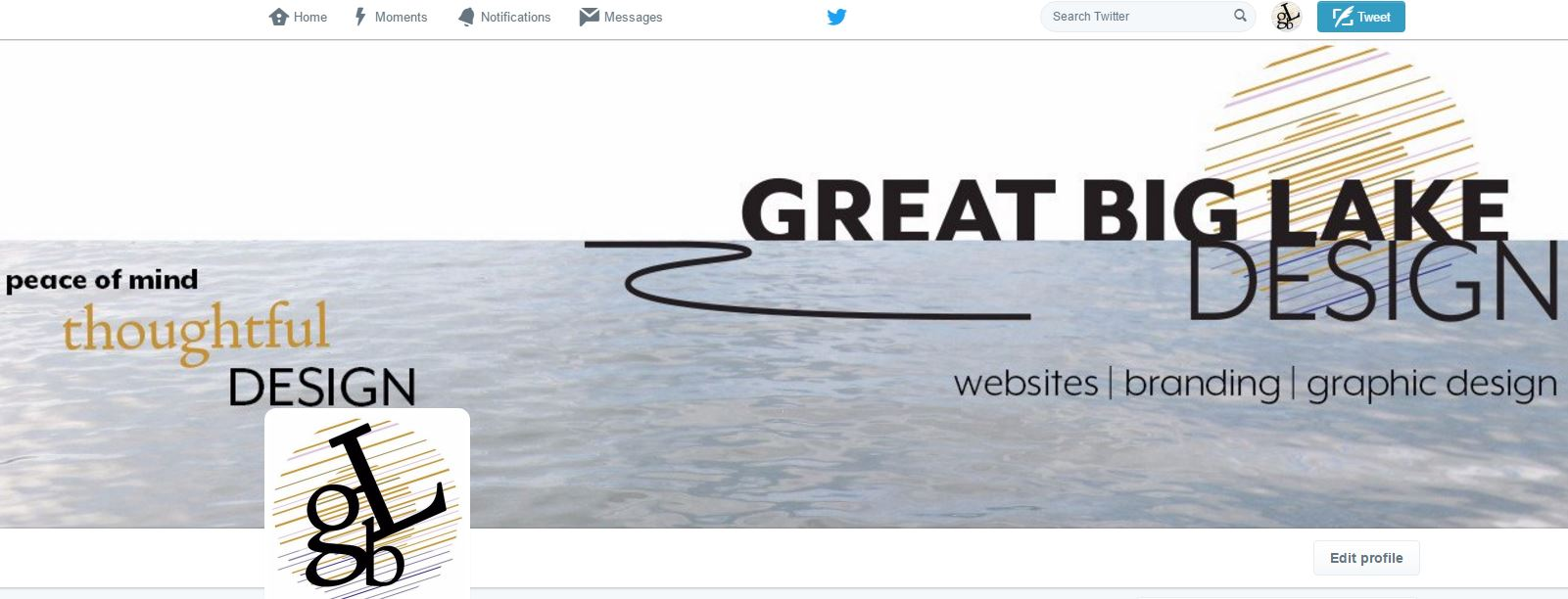 Twitter Great Big Lake Design Profile Picture and Header Image